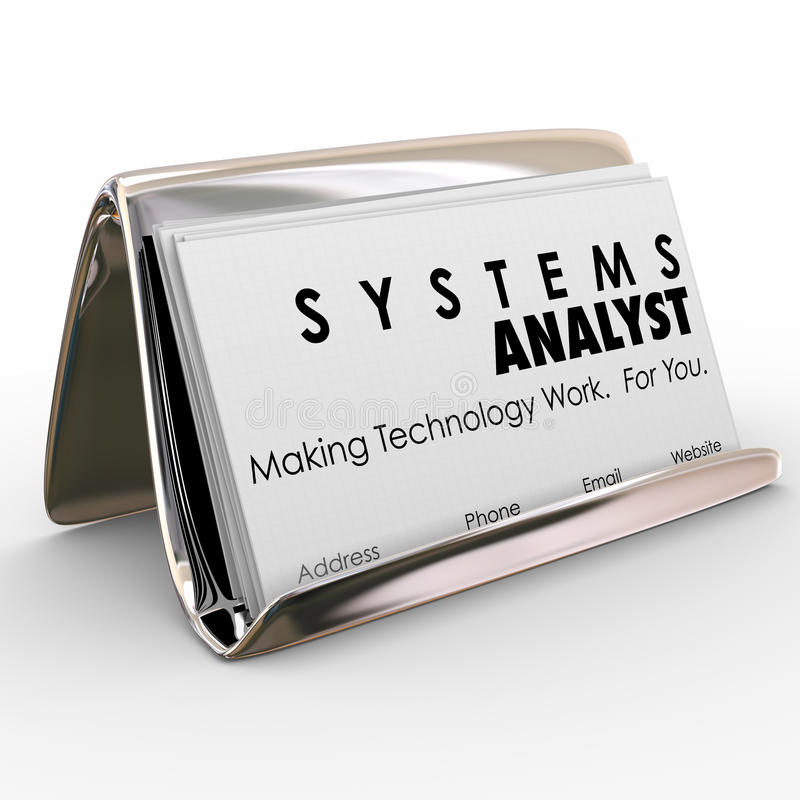 Systems Analyst Business Card Holder Computer Technology Special ...