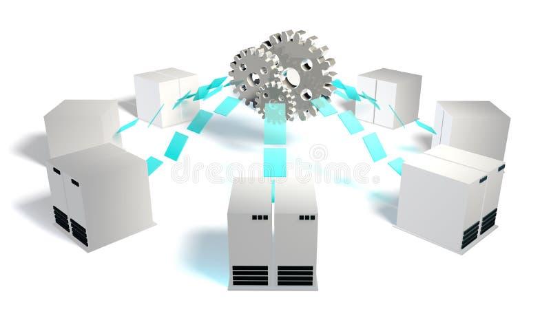 Download Systems Integration stock illustration. Image of information - 20521618