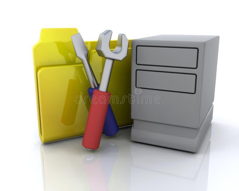Systemsfaltblattikone lizenzfreie abbildung