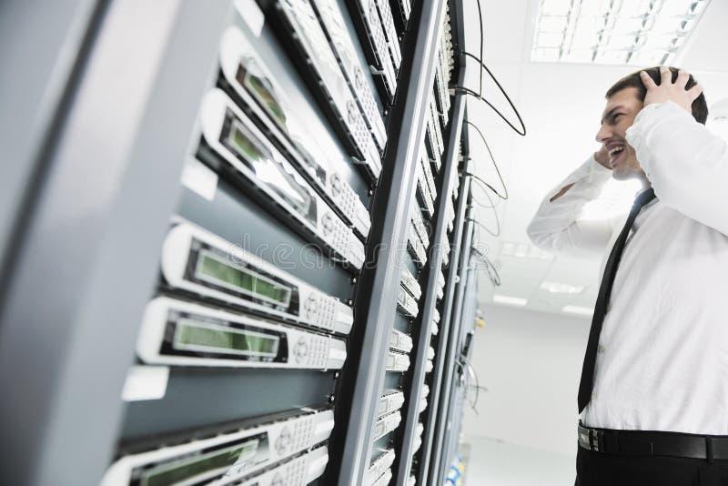 Systemu fail sytuacja w sieci serweru pokoju obrazy stock