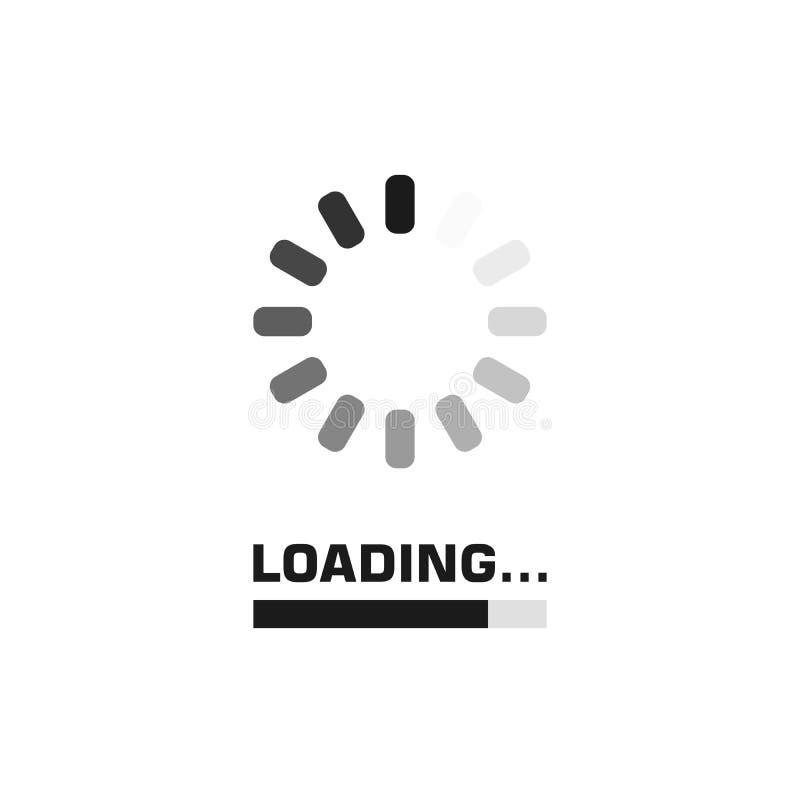 Systemu uaktualnienie programu i ulepszenia pojęcie Ładowniczego procesu ekran wektor ilustracja wektor