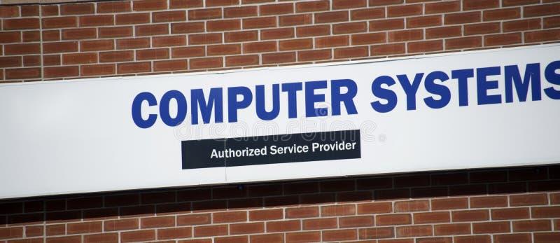 Systemy Komputerowi Upoważniali Service Provider Marqee zdjęcie royalty free