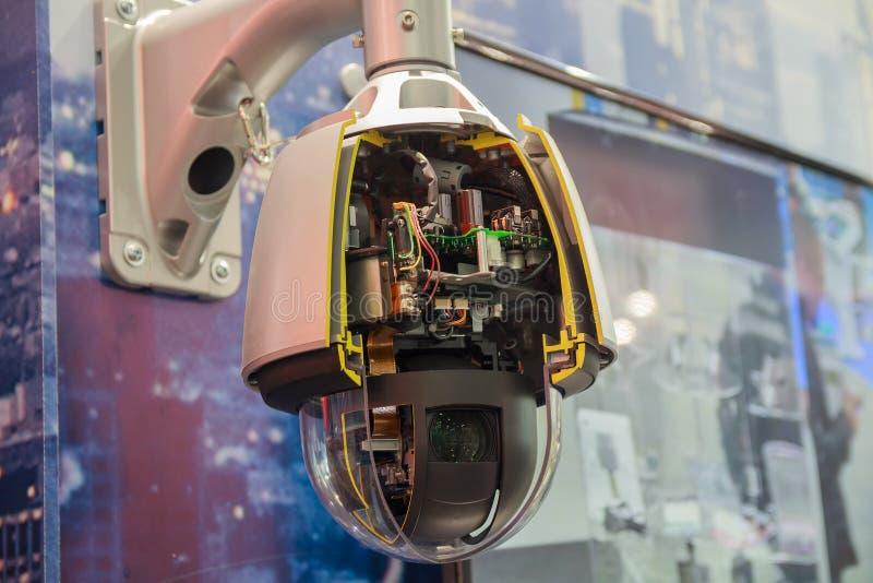 Systemy obserwacji w sekci w sala wystawowej zdjęcia stock