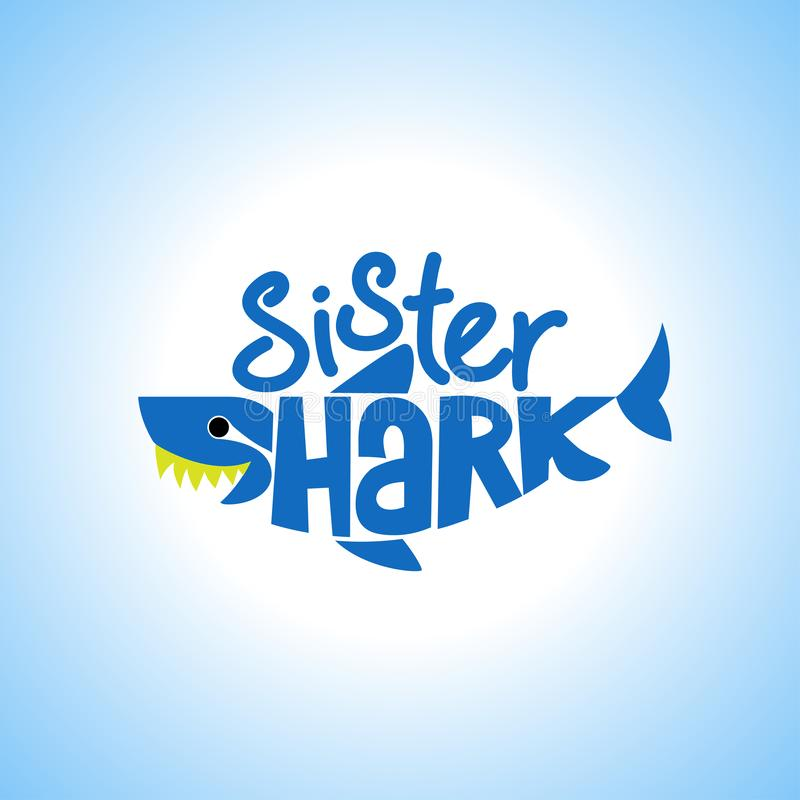 Syster Shark Doo Doo Doo vektor illustrationer