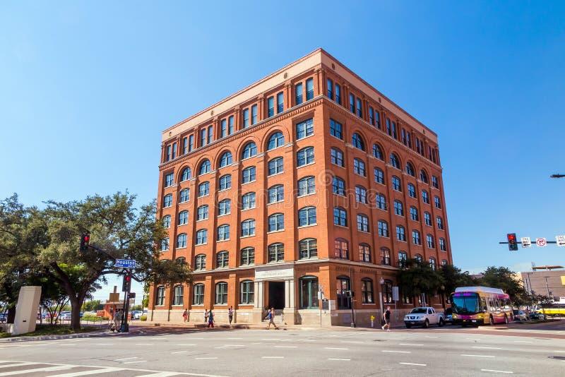 Szóstego Podłogowy muzeum w W centrum Dallas fotografia stock
