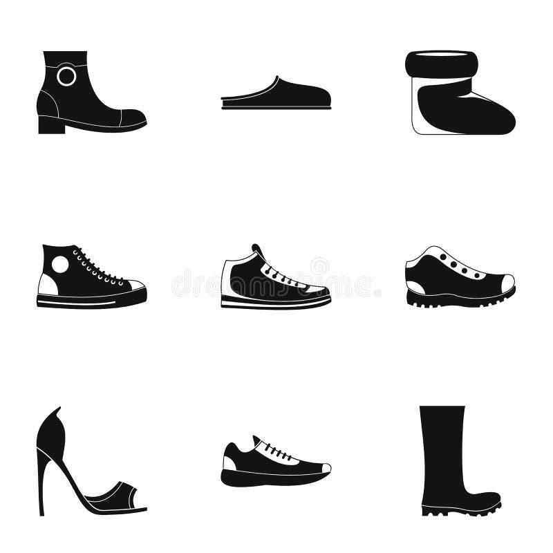 Szący but ikony ustawiać, prosty styl ilustracja wektor