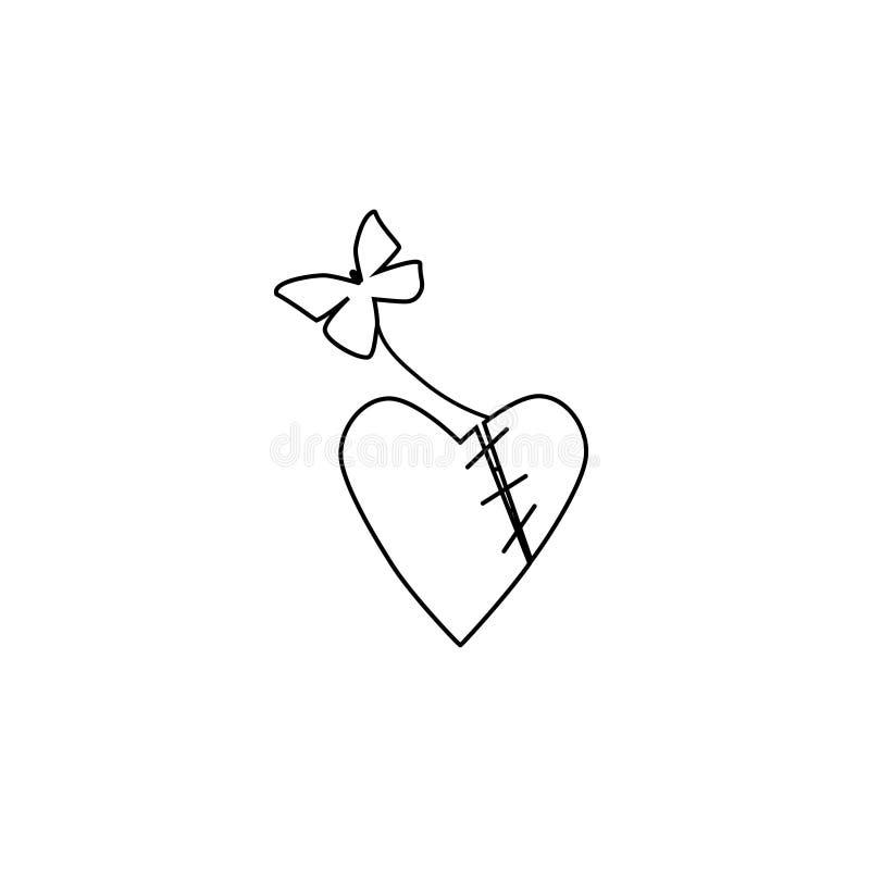 Szący wpólnie serce ilustracji