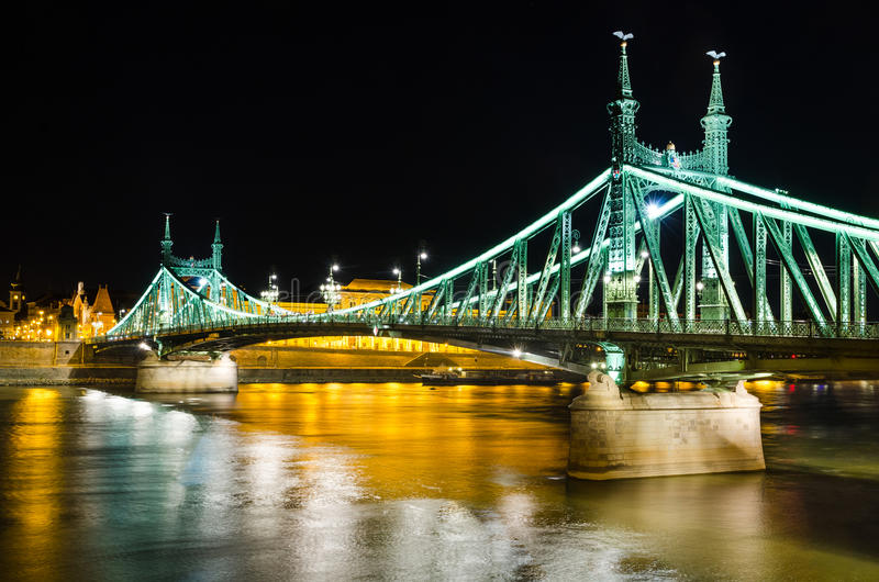 Szabadsag, Liberty Bridge in Budapest stock photos