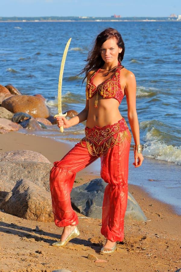 szabli dancingowa kobieta fotografia stock