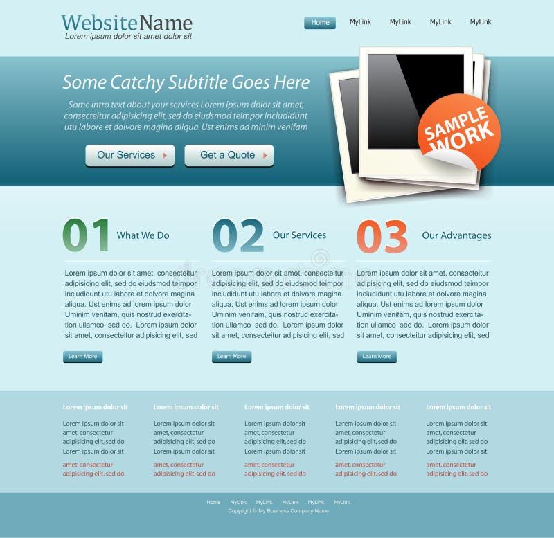 szablon błękitny biznesowa strona internetowa ilustracja wektor