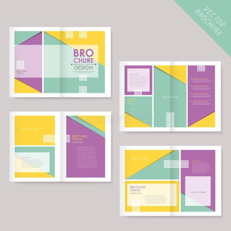 Szablon broszurka projekt z rozciągniętymi stronami ilustracji