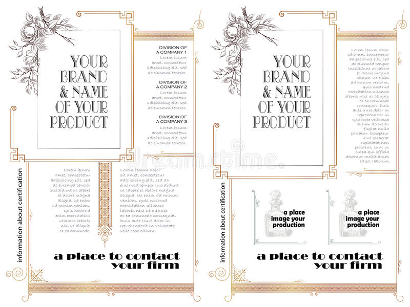 Szablon dla biznesu, koperta, zaproszenia royalty ilustracja