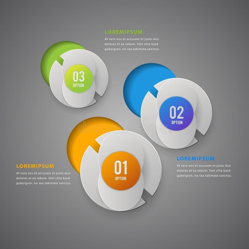 Szablon dla infographic wektoru 4 opcj Może używać dla obieg układu, diagram, sztandar, sieć projekt abstrakcyjny tło ilustracji
