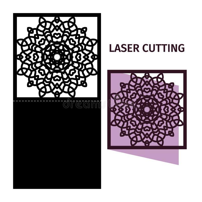 Szablon dla laserowego rozcięcia royalty ilustracja