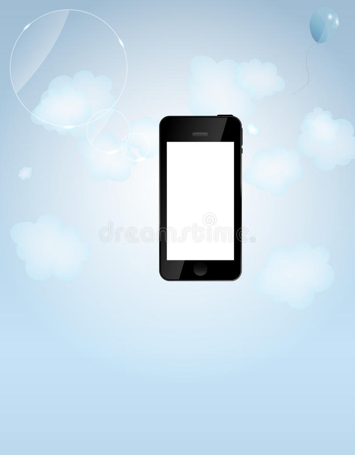 Szablon dla mądrze telefonu i telefon komórkowy firmy ilustracji