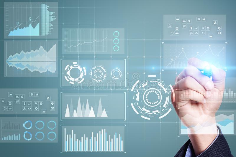 Szablon dla teksta, Wirtualny parawanowy tło Biznes, internet technologia i networking pojęcie, ilustracji