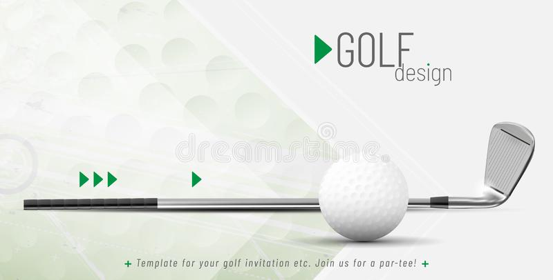 Szablon dla twój golfowego projekta z próbka tekstem ilustracja wektor
