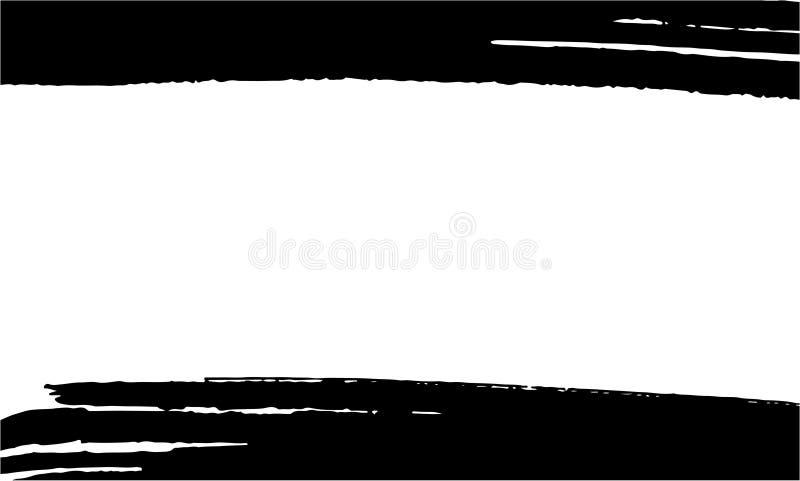 Szablon dla wizytówki, sztandar, plakat, ulotka, notatnik, zaproszenie z nowożytna ręka rysować atramentu grunge teksturami royalty ilustracja