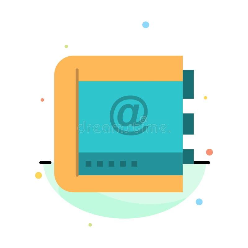 Szablon ikony Książka, Firma, Kontakt, Kontakty, Internet, Telefon, Abstrakcyjny Płaski Kolor Telefonu ilustracja wektor