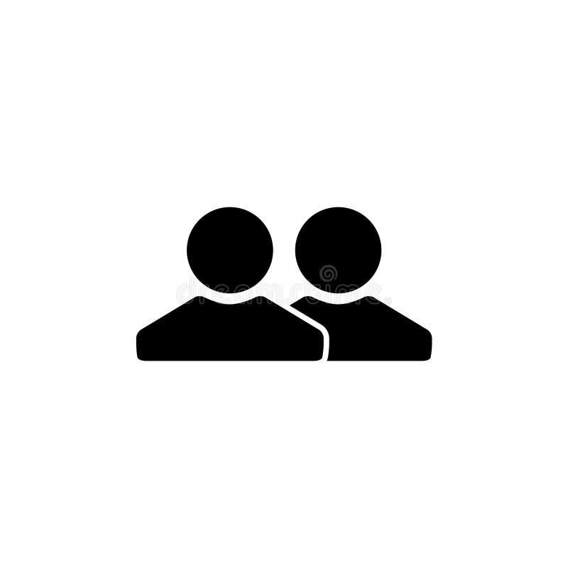 Szablon ikony projektowania wektora połączeń osób royalty ilustracja