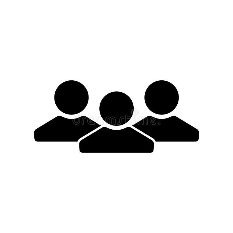 Szablon ikony projektowania wektora połączeń osób ilustracja wektor