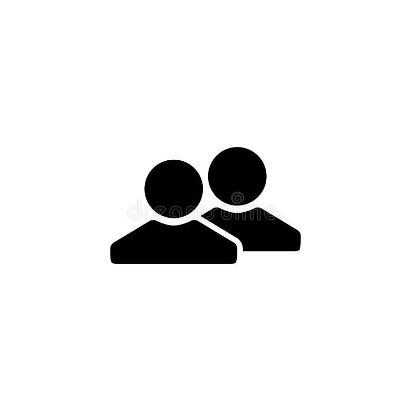 Szablon ikony projektowania wektora połączeń osób ilustracji