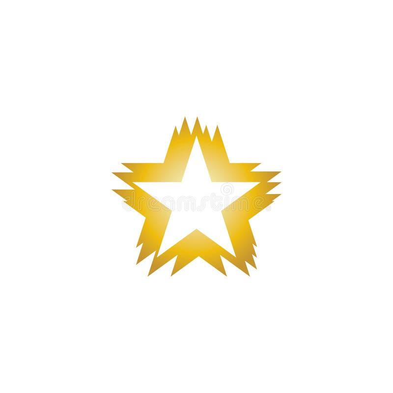 Szablon ilustracji wektora logo gwiazdy royalty ilustracja