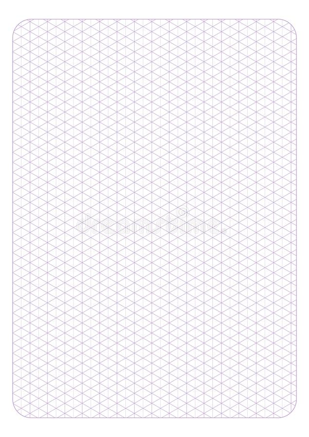 Szablon isometric siatki bezszwowy wzór, wektorowa ilustracja, ilustracji