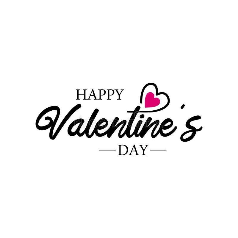 Szablon logo Hapentines Day z wektorem Love Heart dla plakatów, banerów, ulotki, kart ilustracji