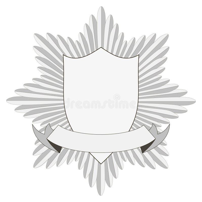 Szablon odznaki heraldyka ilustracja wektor