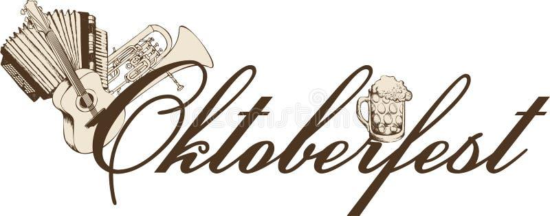 Szablon Oktoberfest piwa przyjęcie royalty ilustracja