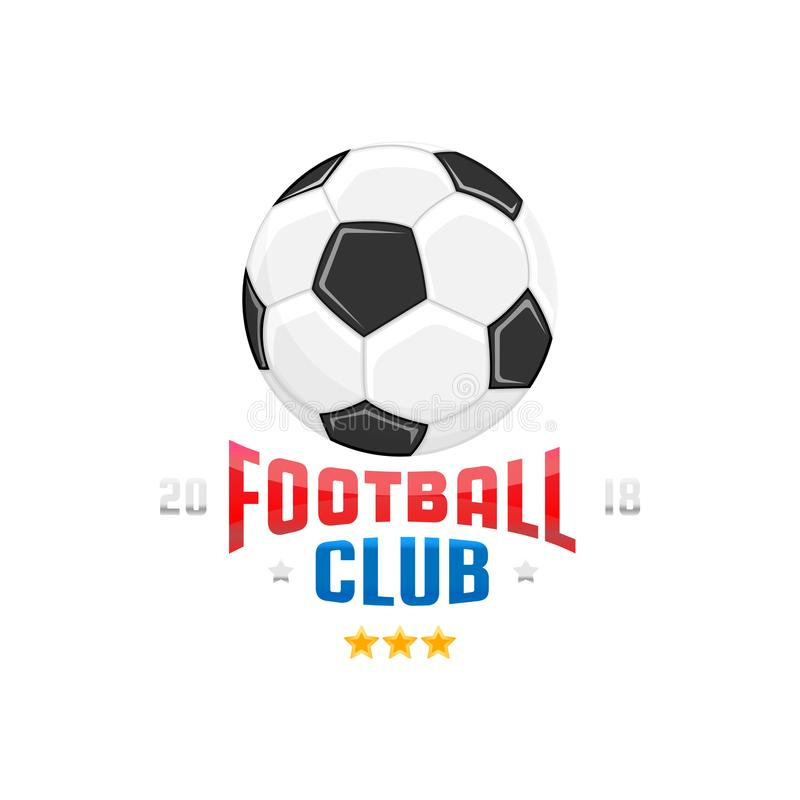 Szablon piłki nożnej loga projekt Mistrzostwo futbolu klub ilustracja wektor