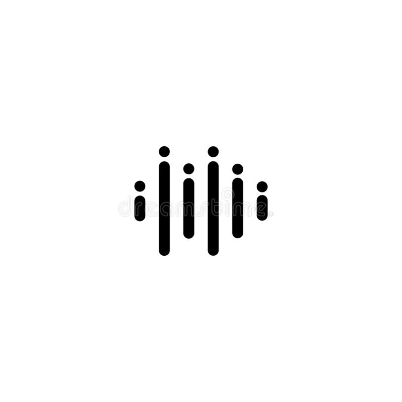 Szablon projektowania logo fal muzycznych ilustracji