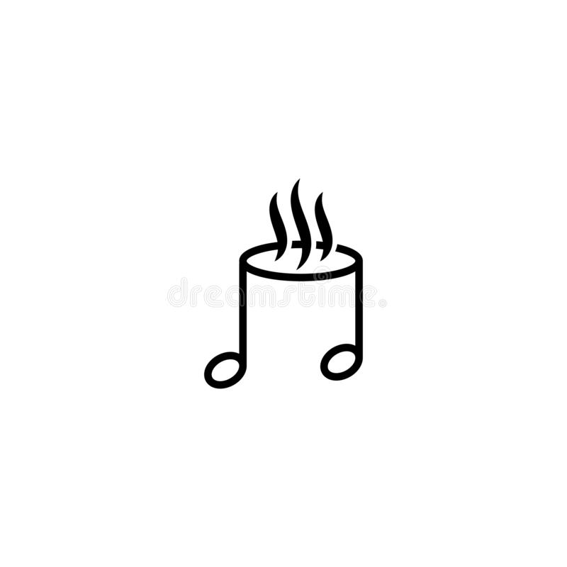 Szablon projektowania logo kawiarni muzycznej ilustracji