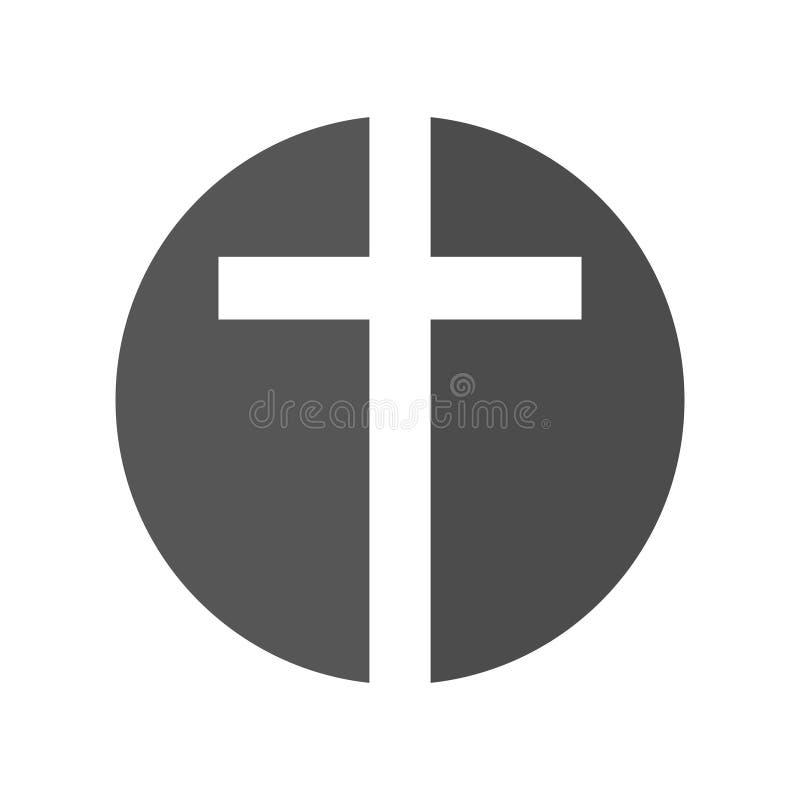 Szablon projektowania logo wektora religii. ikona ukrzyżowania lub Kościoła ilustracji