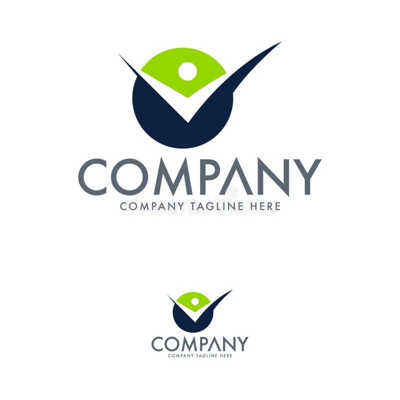 Szablon projektu logo Creative Letter V i Human royalty ilustracja