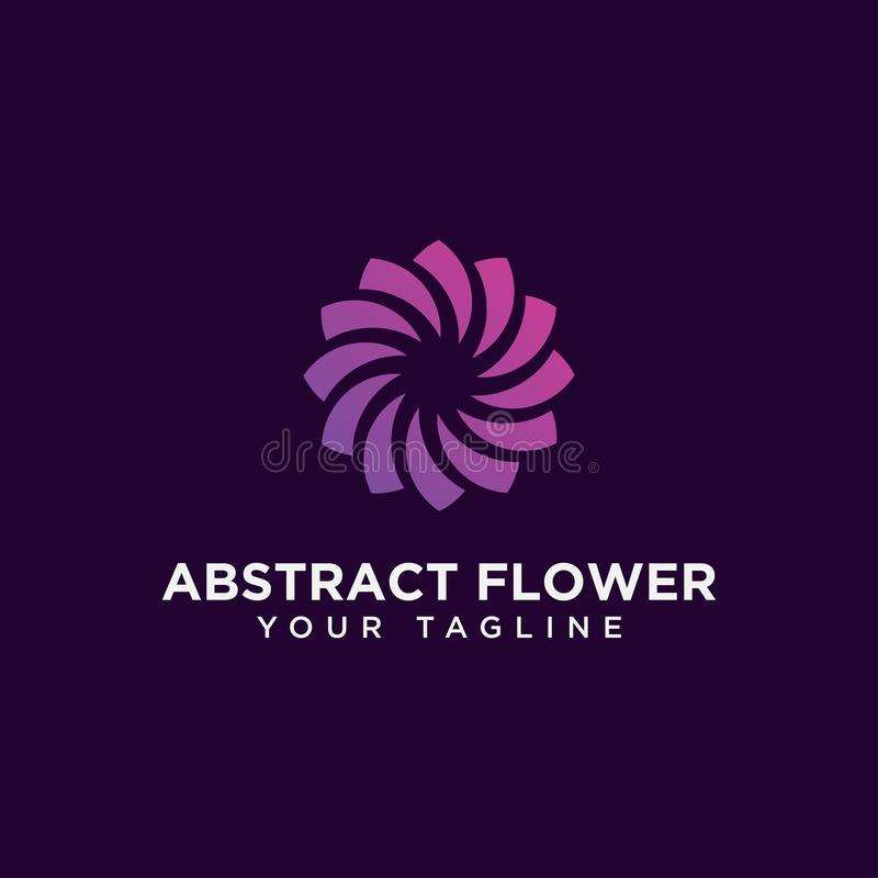 Szablon projektu logo kwiatków abstrakcyjnych w kółku obrazy stock