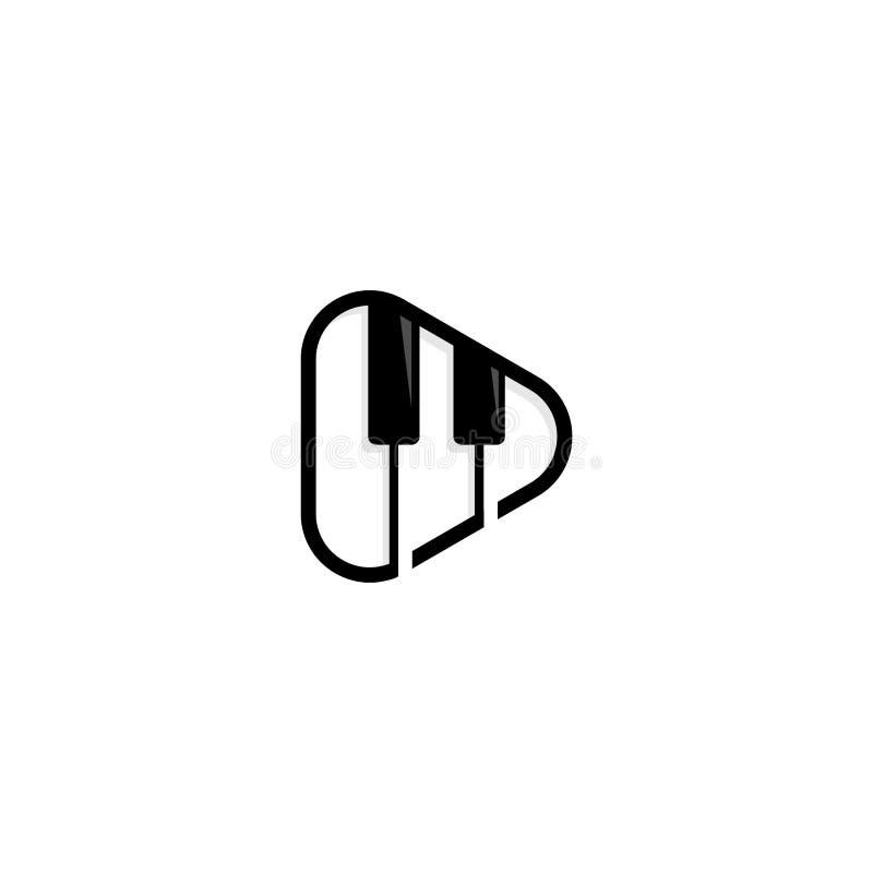 Szablon projektu logo odtwarzania muzyki i multimediów ilustracji