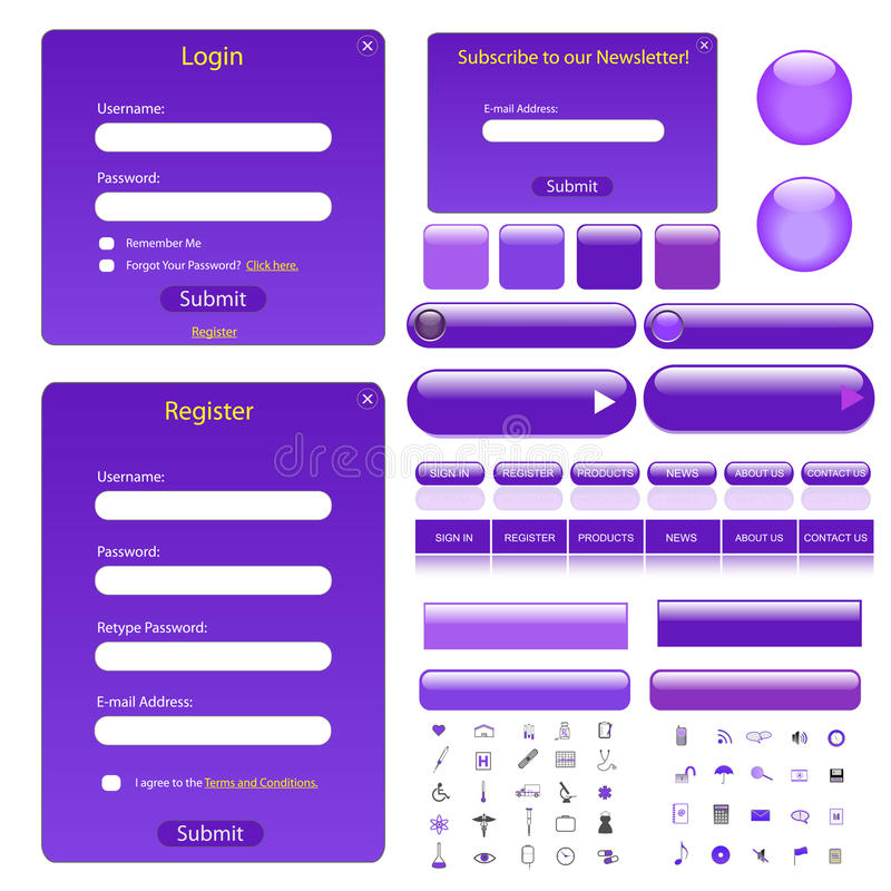 szablon purpurowa sieć royalty ilustracja
