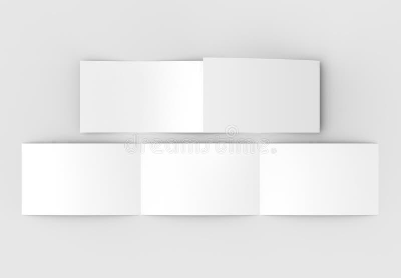 Szablon pustego miejsca trzy fałd horyzontalny - krajobrazowy broszurki moc royalty ilustracja