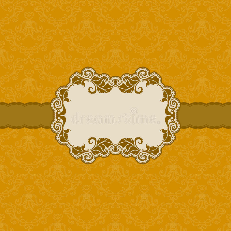 Szablon ramy projekt dla kartka z pozdrowieniami. ilustracja wektor