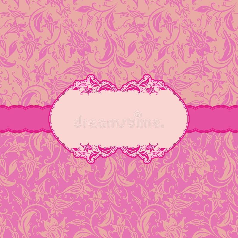 Szablon ramy projekt dla kartka z pozdrowieniami. ilustracji