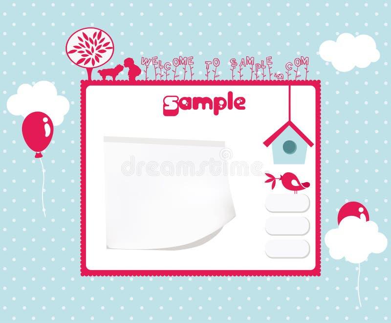 szablon strona internetowa ilustracji