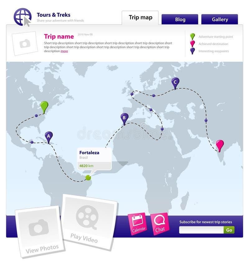 szablon strona internetowa royalty ilustracja