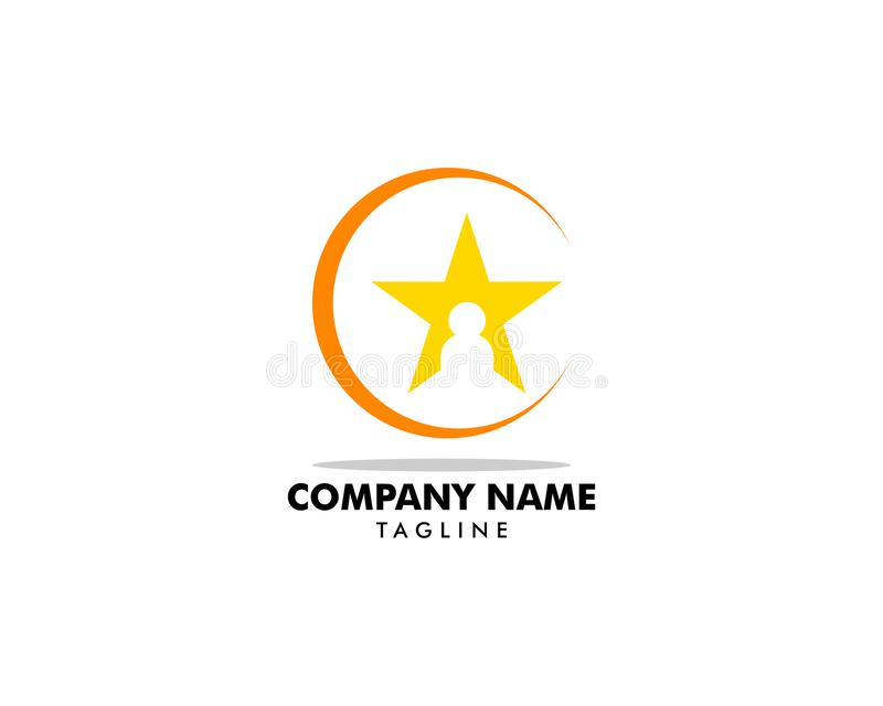 Szablon wektora logo gwiazdy dla osób ilustracji