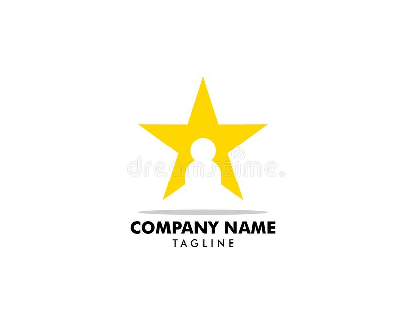 Szablon wektora logo gwiazdy dla osób royalty ilustracja