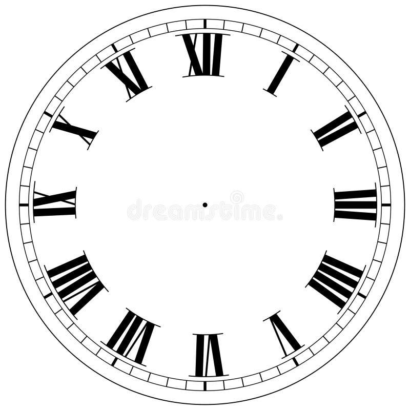 szablon zegara royalty ilustracja