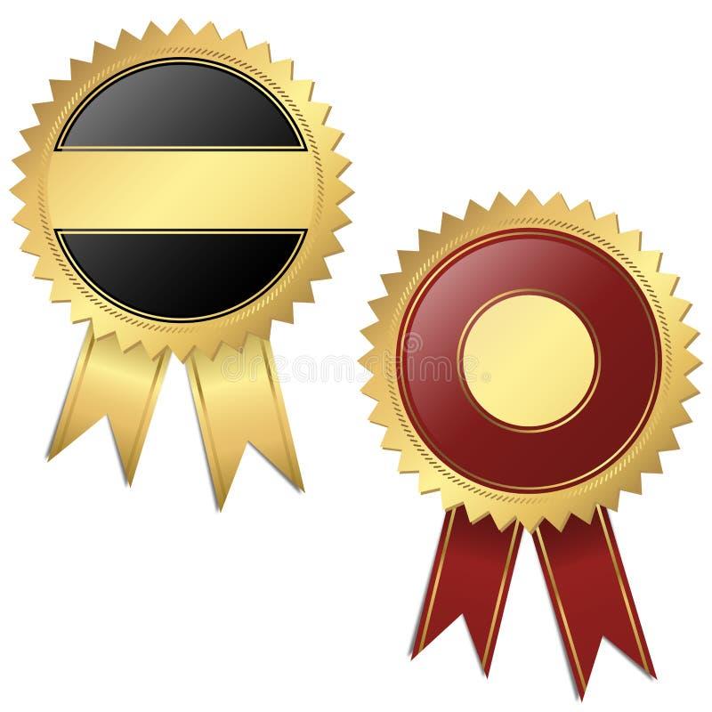 2 szablonu - ilości foki czerwień i czerń ilustracja wektor