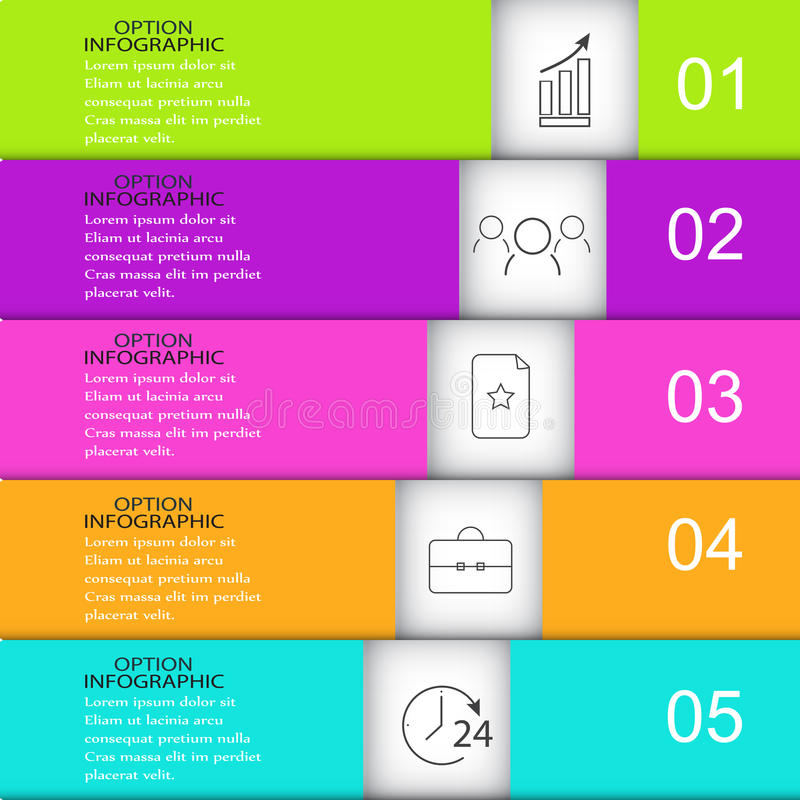 Szablonu infographics prostokąt royalty ilustracja