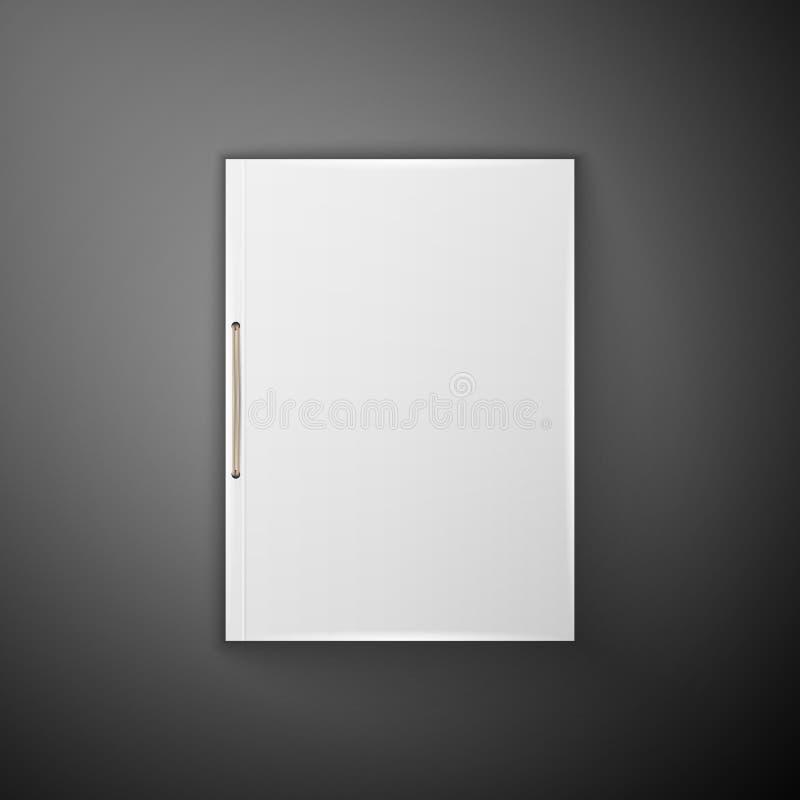 Szablonu katalog, falcówka royalty ilustracja